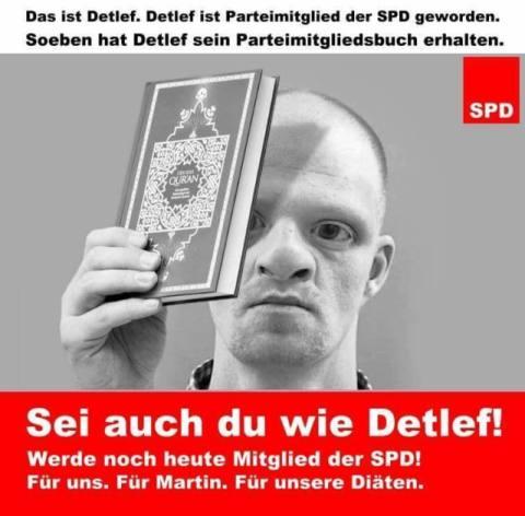 Warum können die Leute nicht sehen, dass Martin schulz Deutschland vernichten wird?