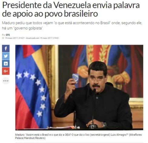 Nicolas Maduro está torcendo para a volta de Lula. O dinheiro do BNDES que ele recebeu já acabou e o narcoditador quer mais.?
