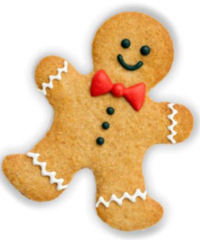 What part of the Gingerbread Man do you bite first?