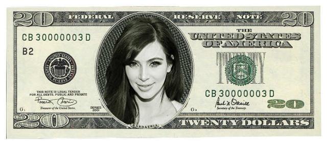 Should Kim Kardashian be put on the $20 bill?
