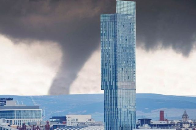 Can tornadoes occur in Manchester?