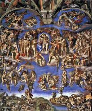 A obra de arte sacra, Juízo Final, de Michelangelo é de qual religião? Cristã, evangelica e etc...?