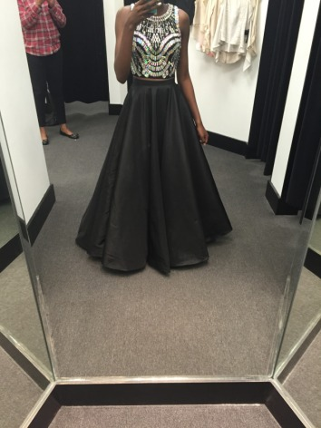 What do you think ? Of my prom dress?