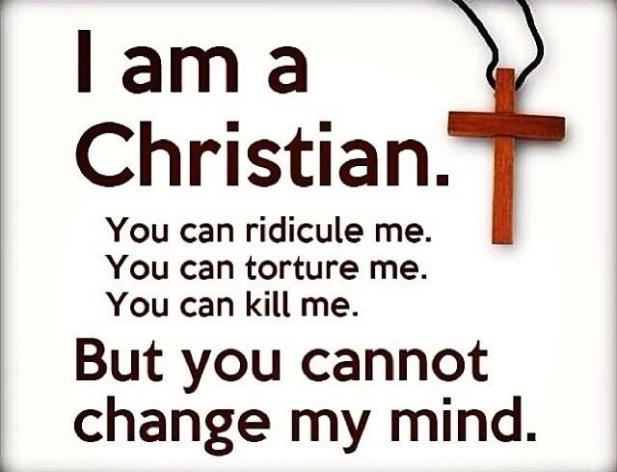 Do atheists know they can't change our minds, go away?