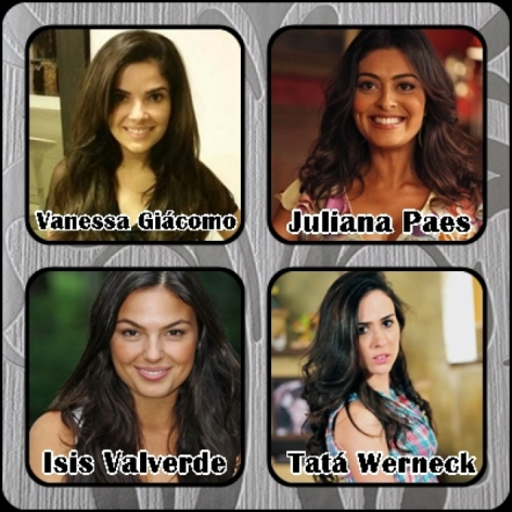 Qual dessas 4 atrizes. É a mais linda ? Vanessa Giácomo Juliana Paes Isis Valverde Tatá Werneck?