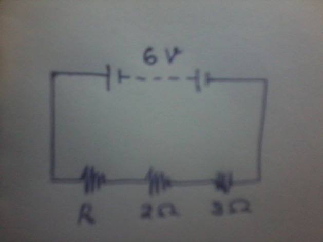 Dari gambar di bawah, Jika daya pada Resistor 2 Ω = 1 Watt, maka daya