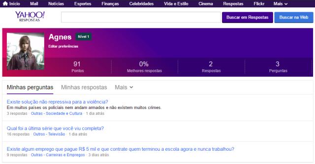Só aqui que a cor do Yahoo mudou?