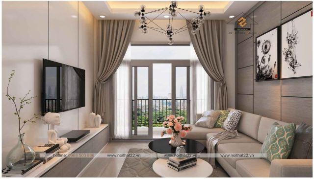 Thiết kế nội thất căn hộ 90m2 tiện nghi hiện đại?