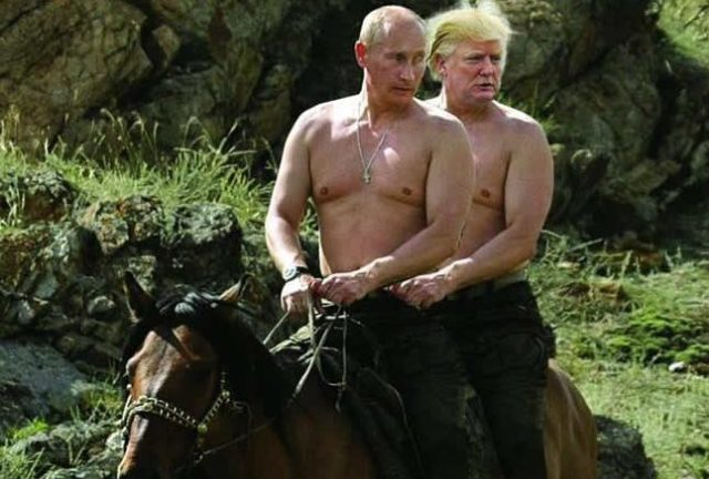 Why is Donald Trump so in love with Vladimir Putin?