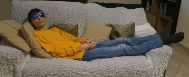 Il maestro daniele capaldo mentre medita?