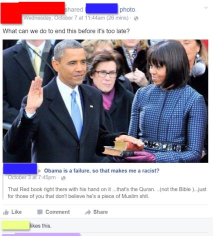 Liberals say that Obama isn't a Muslim, then why do they think he swore his oath of office on the Korean?
