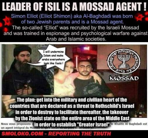 Is the leader of ISIS really a israeli Mossad agent?