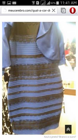 ✌Bom dia, responda qual a cor desse vestido .. eh serio isso?