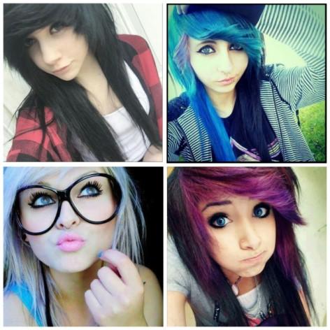 ¿No te parecen hermosas las chicas emo?