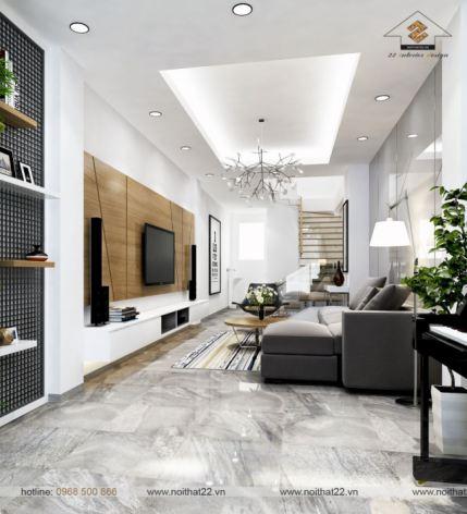 Ấn tượng với mẫu thiết kế nội thất căn hộ 90m2 theo phong cách hiện đại 2017?