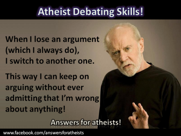 Do you notice atheists using this ridiculous debate tactic?