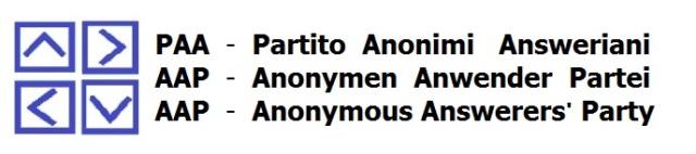 COLLETTIVO PAA ( Partito Anonimo Anweriano ) : Ordine del giorno?