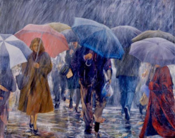 Dalam hujan lebat , kalian lebih suka pakai payung atau jas hujan ?