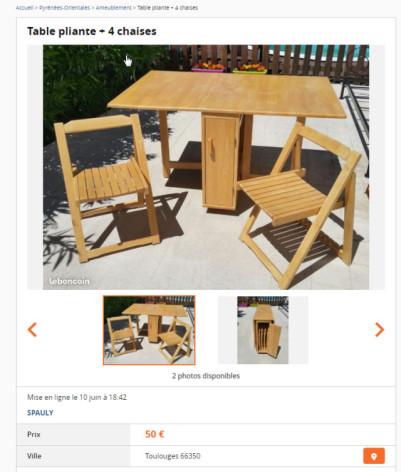 Est-ce que cette table peut elle rester à la terrasse sur Perpignan ?