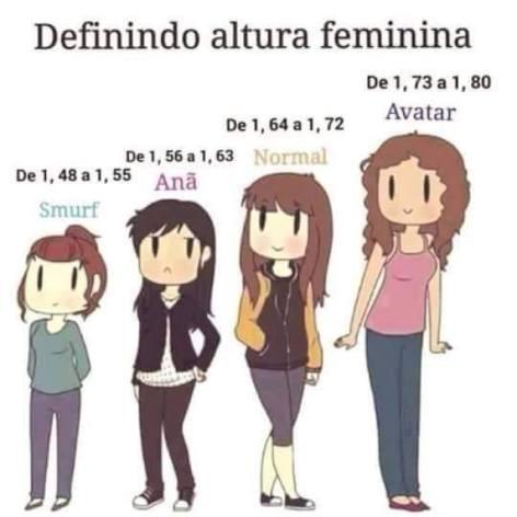 Mulheres,considerando sua altura,vejam em qual definição vocês de encaixam?