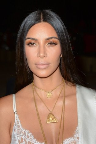Why does Kim Kardashian look like she's smelling something bad?