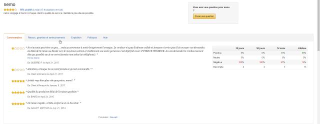 Commande sur Amazon (market place) par nemo, smartphone 120 €. Je craint l'arnaque pourtant il avait de bonnes critiques avant, voyez ?