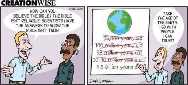 Where do people get this silly idea that Earth is trillions of years old when God says it's only 6,000?