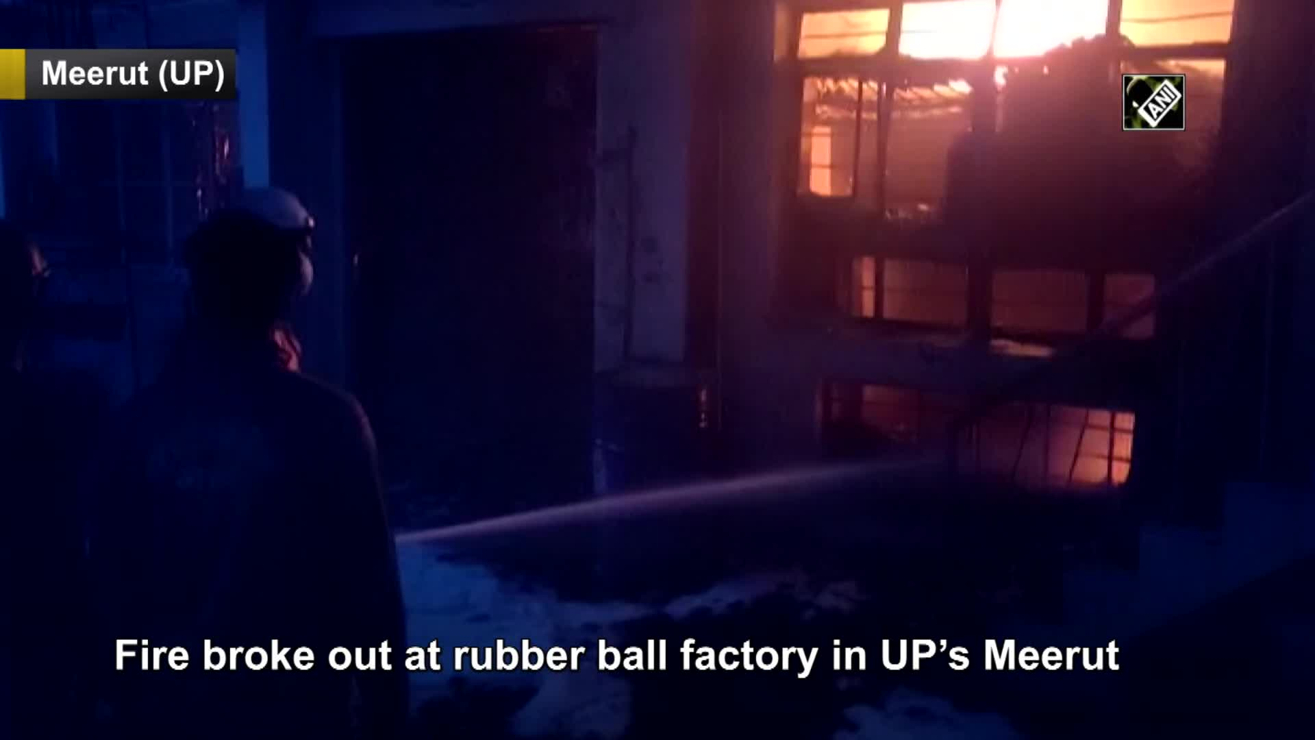 Fire breaks out at rubber ball factory in UP's Meerut [Video]