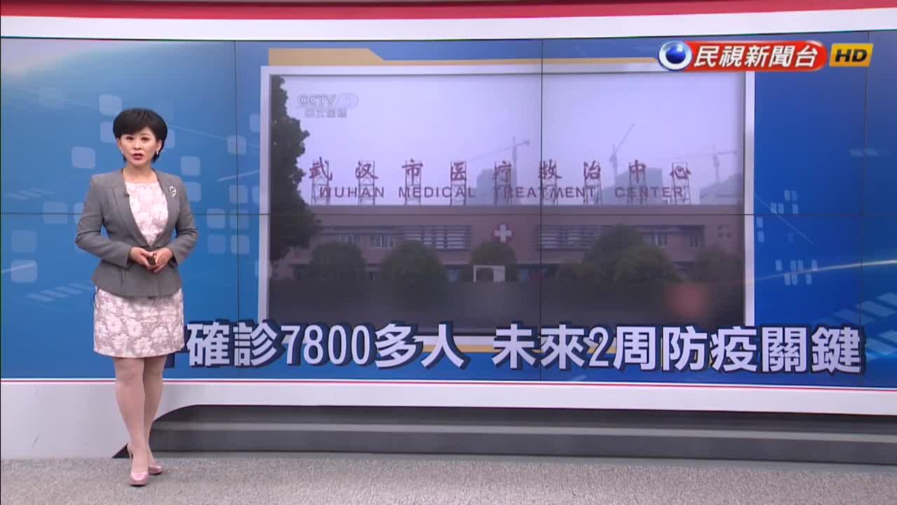 中國確診武漢肺炎7800多人!眾輕症者增加傳染風險