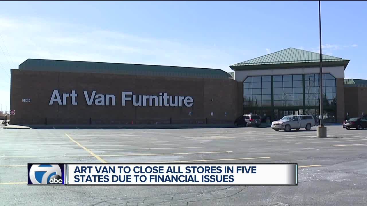 Art Van Furniture Closing All Stores Liquidation Sales Start