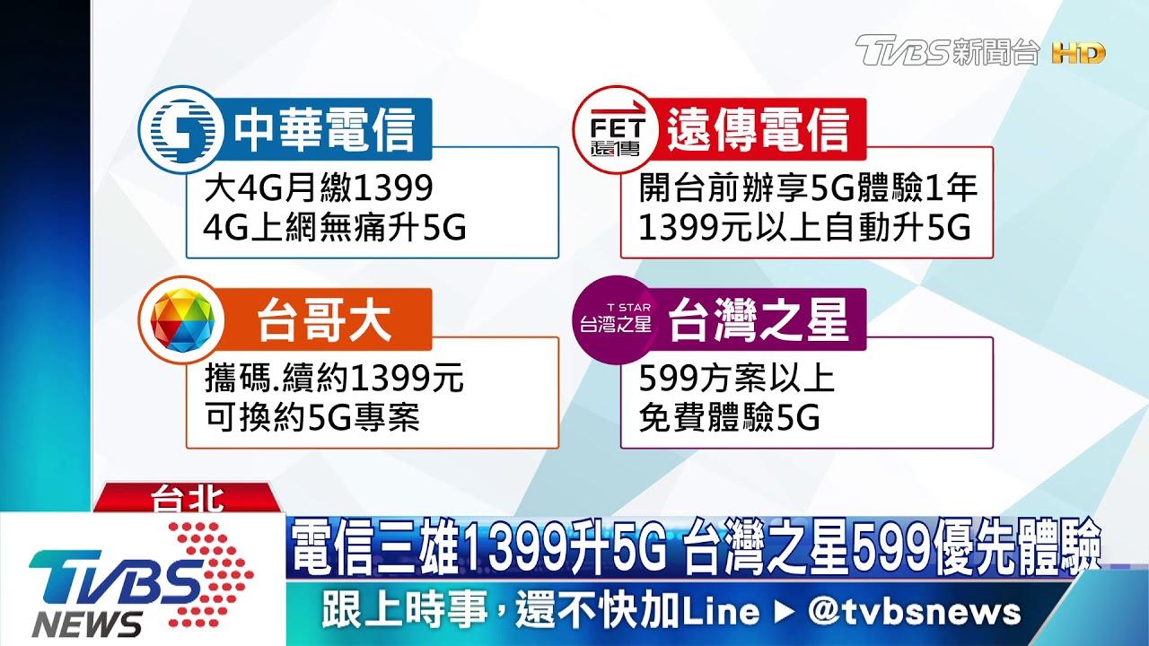 電信業5G戰! 資費599元起 開台免費體驗