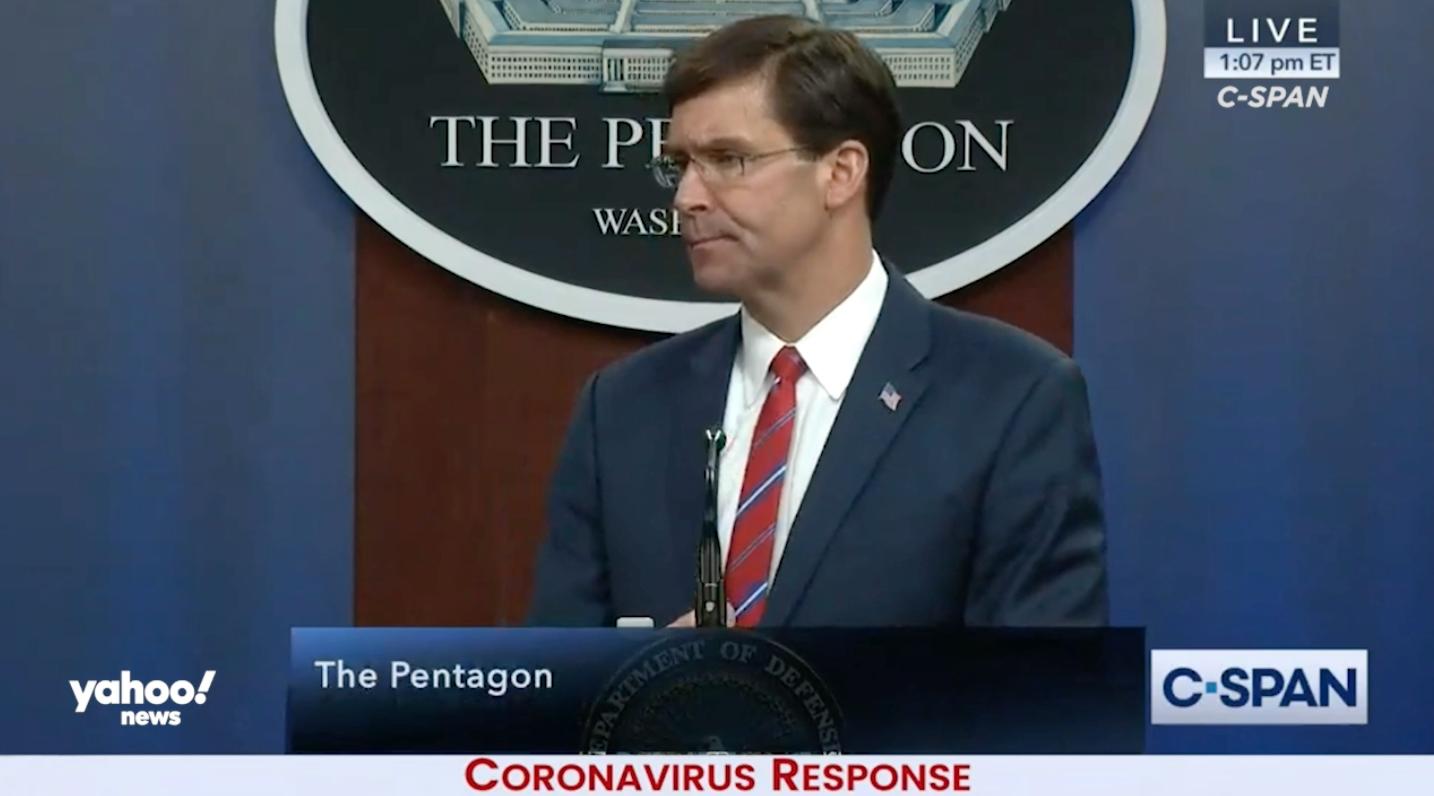 Pentagon Sees Coronavirus Crisis Lasting Months