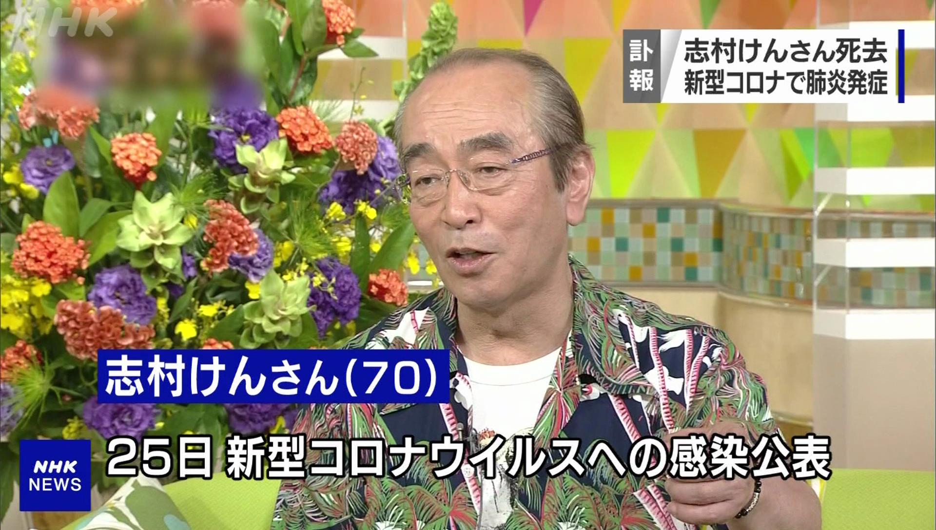 裝葉克膜救不回! 志村健染疫病逝享壽70歲