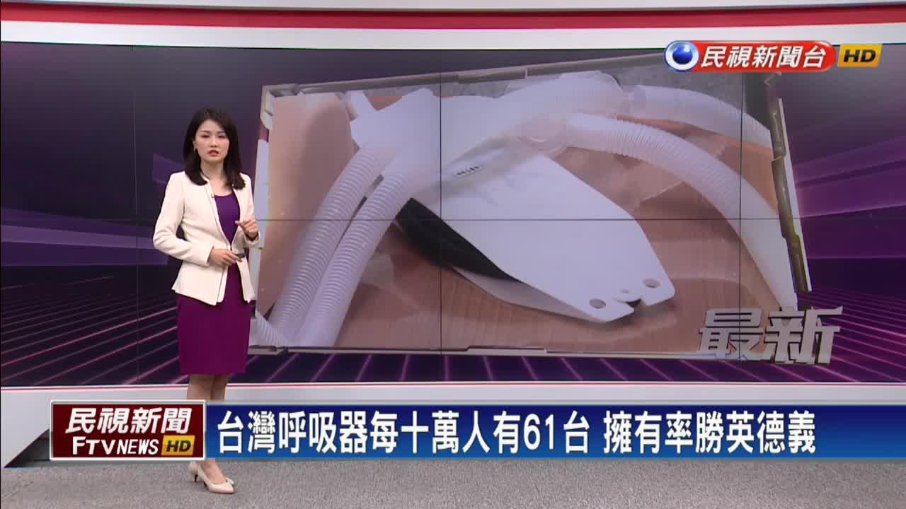 擁有率勝英德義!台灣擬成立呼吸器國家隊
