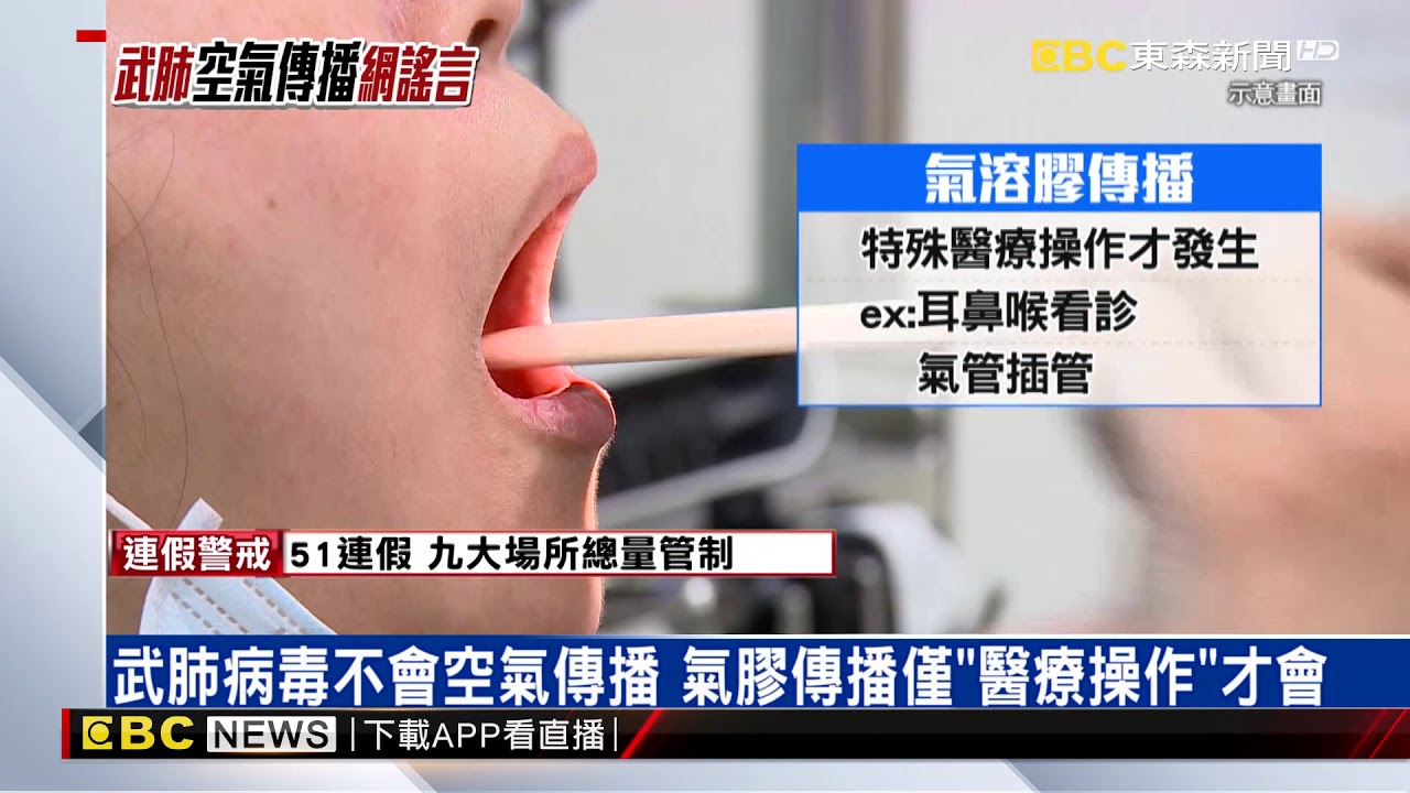 網傳「武肺病毒空氣傳播」查核中心:假的