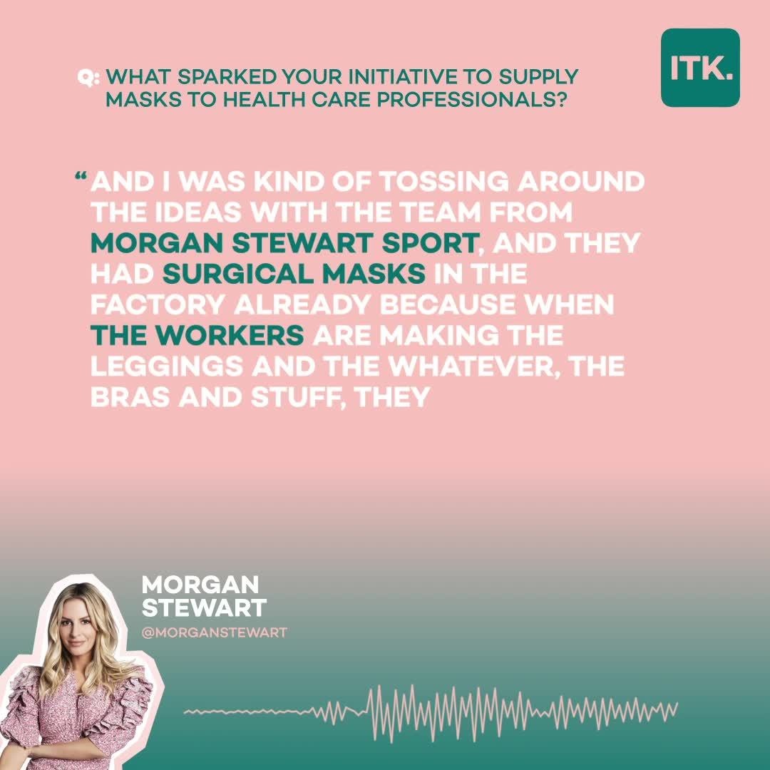 E Host Morgan Stewart Utilizes Her Own Activewear Brand To Make 7 500 Masks For Hospital Workers