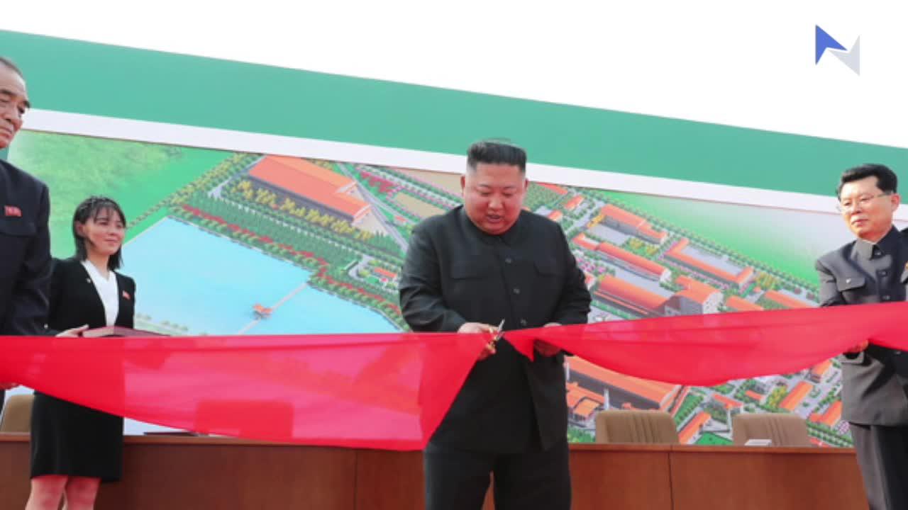 北韓朝中社發放一張金正恩圖片