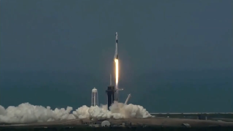 Elon Musks SpaceX rocket launches into space