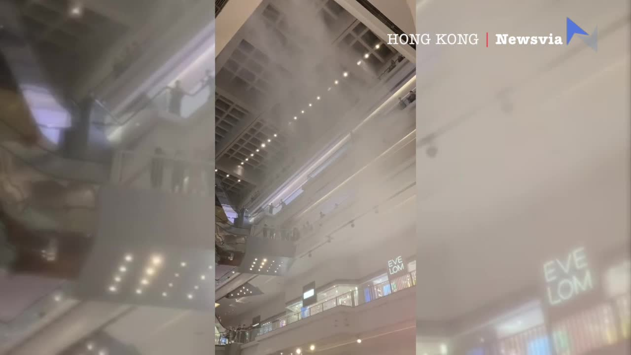 香港又一城商場再現水舞間 車展變「洗車展」