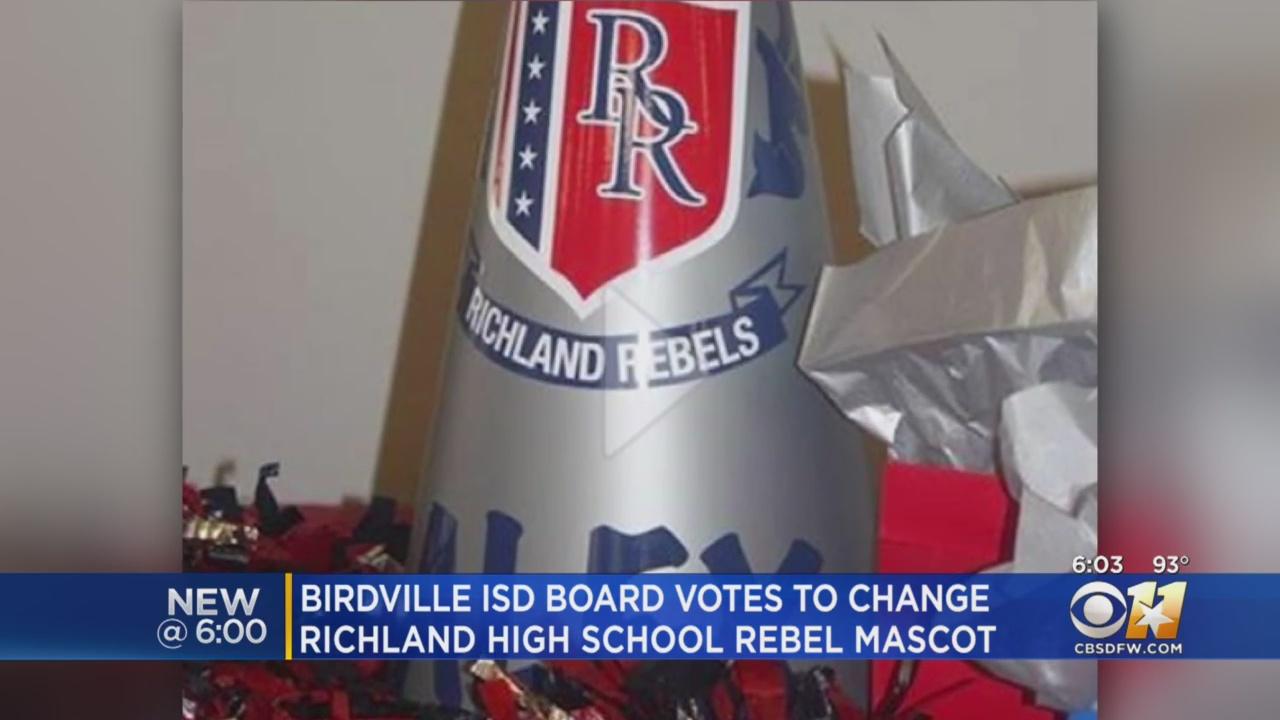 Birdville Isd To Change Richland High Rebel Mascot Video