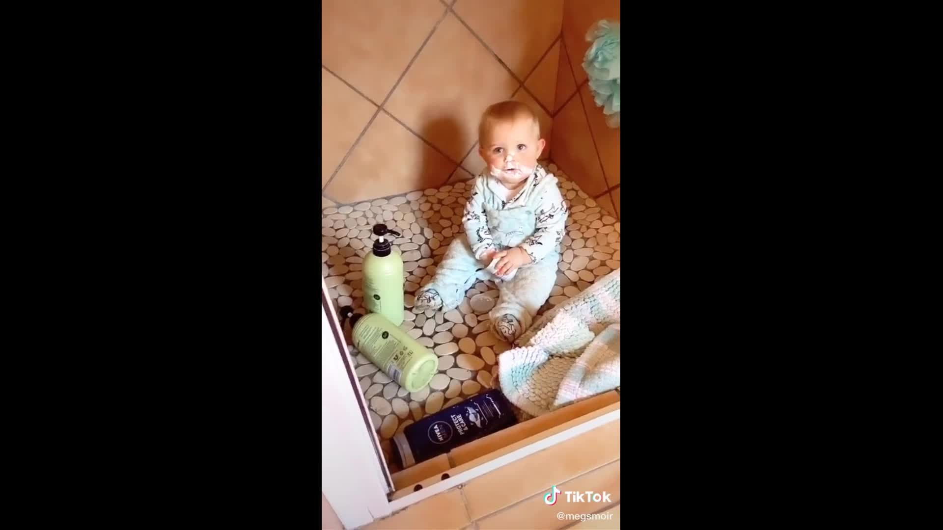 Toddler makes gigantic mess, creates hysterical