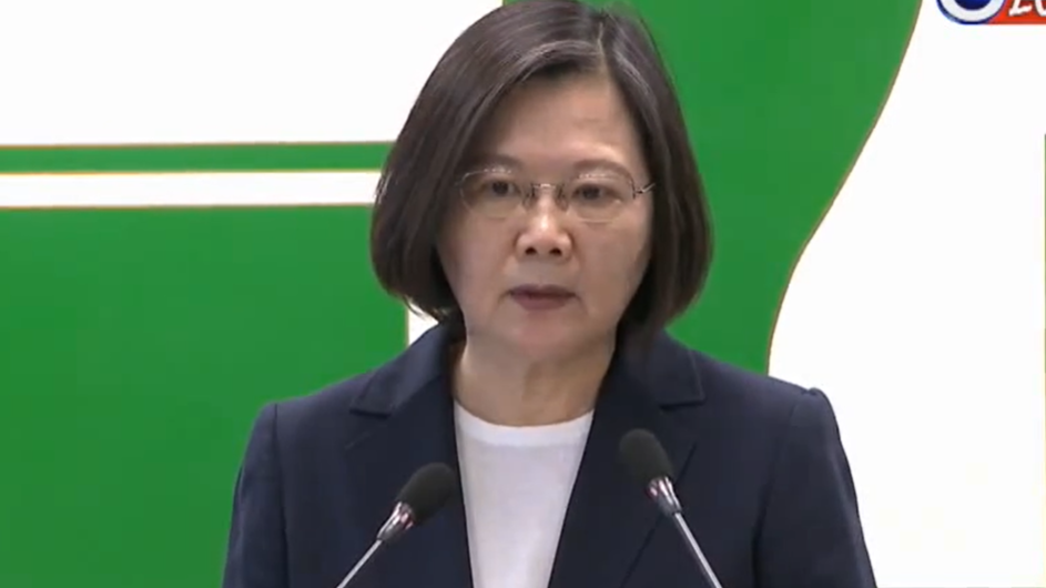 香港情勢持續惡化 蔡總統承諾人道救援力挺