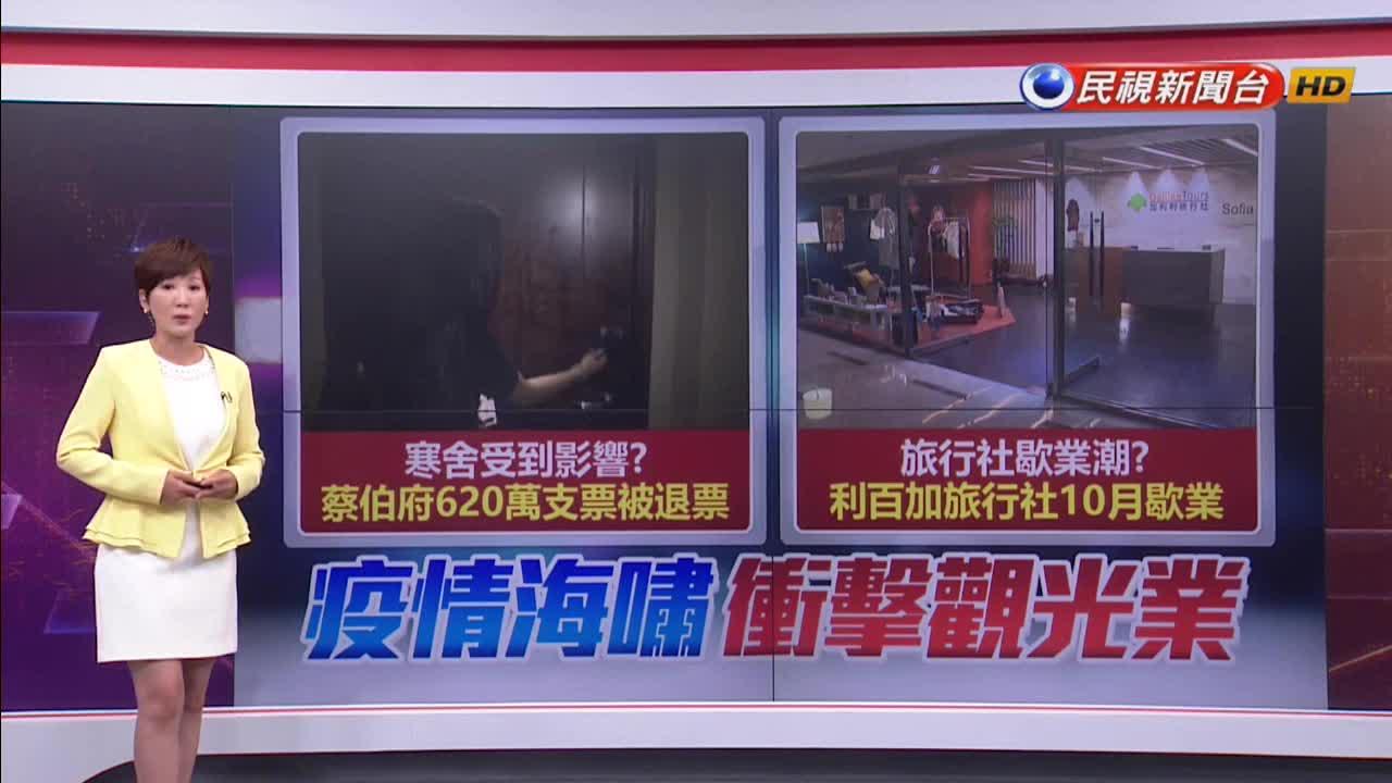 疫情海嘯衝擊寒舍 蔡伯府開620萬支票被退票