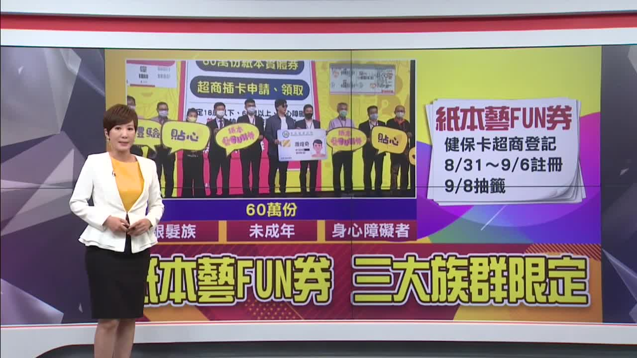 藝FUN券2波31日起跑 開放年長 未成年與身障者登記