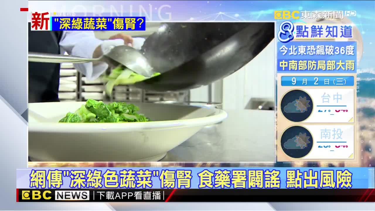 網傳「深綠色蔬菜」傷腎 食藥署闢謠 點出風險 - Yahoo奇摩新聞
