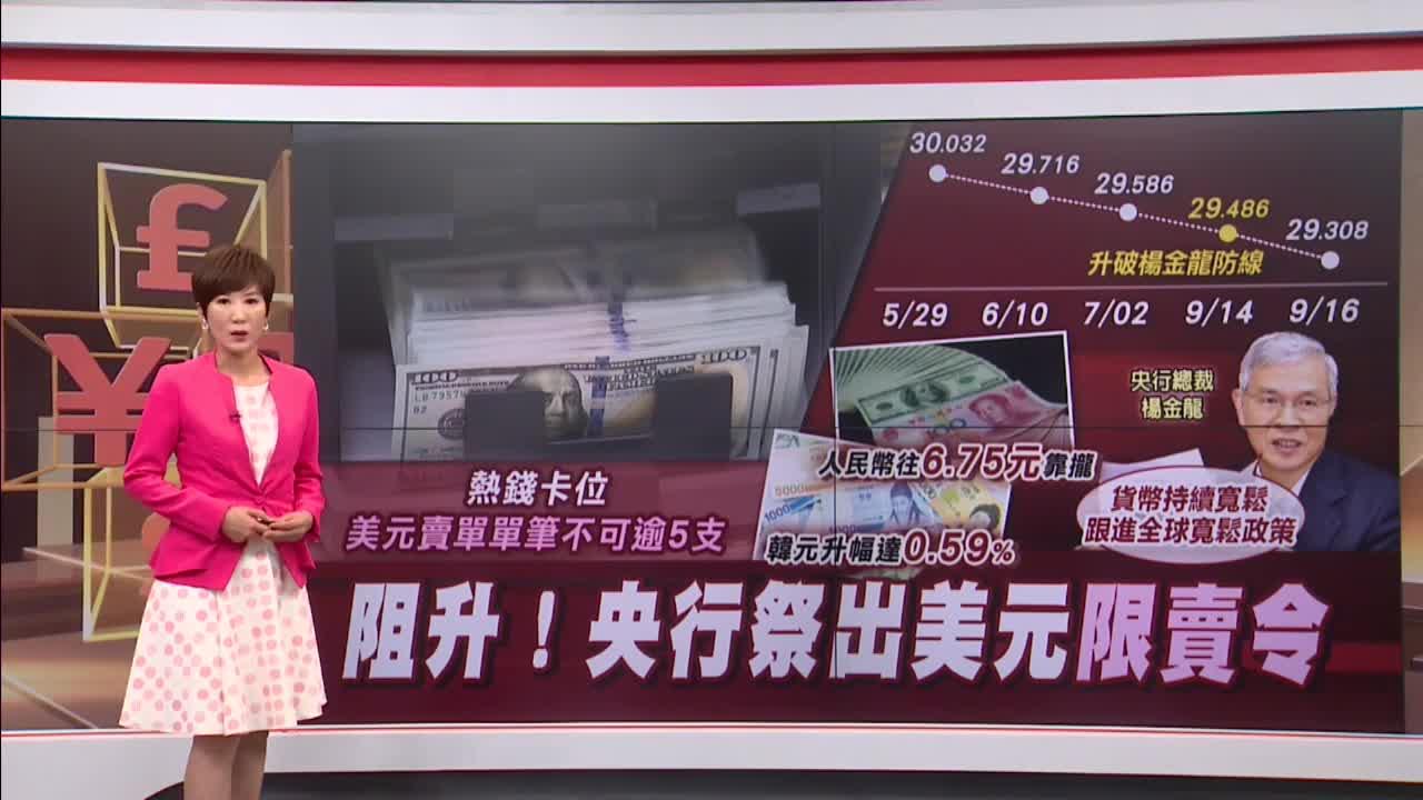 美元禁賣令?楊金龍:善意勸導 亞幣中台幣升不多