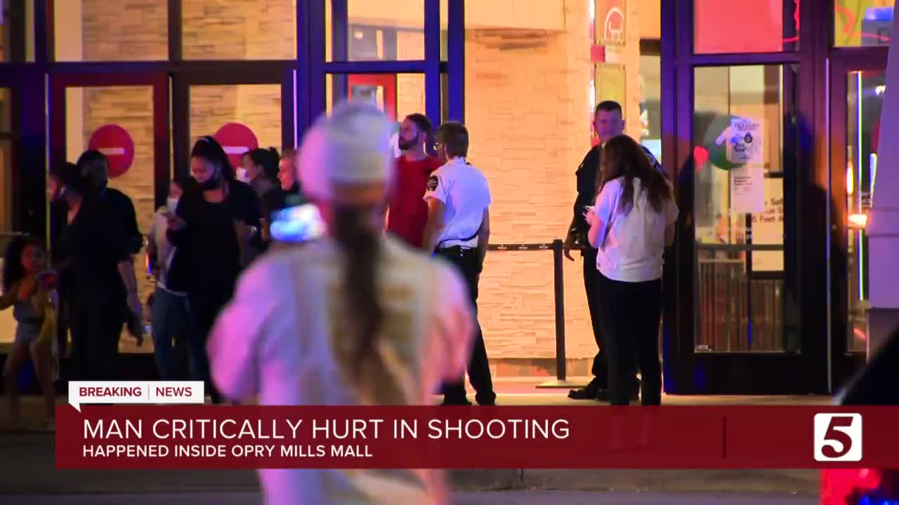 Man Critically Injured In Shooting In Opry Mills Mall
