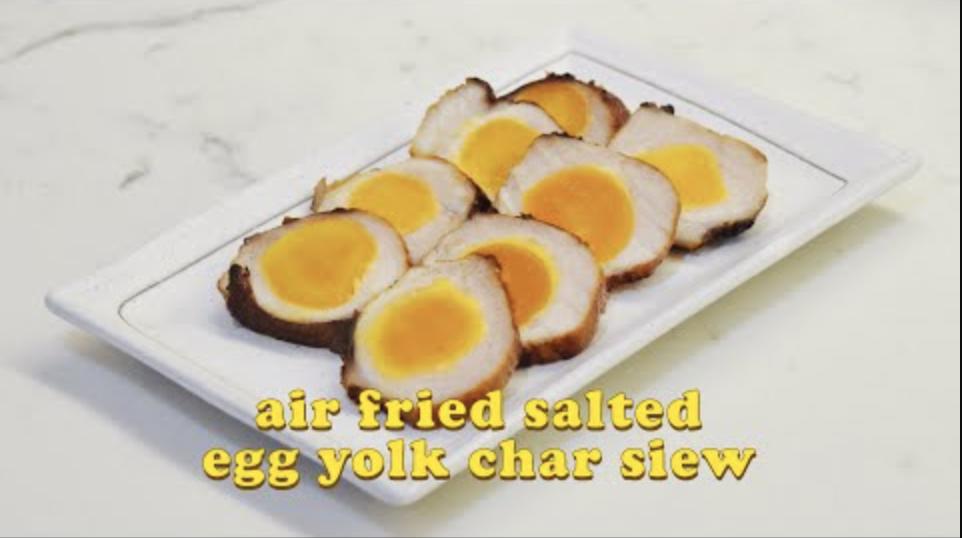 氣炸鍋鹹蛋黃叉燒 Air Fried Salted Egg Yolk Char Siew