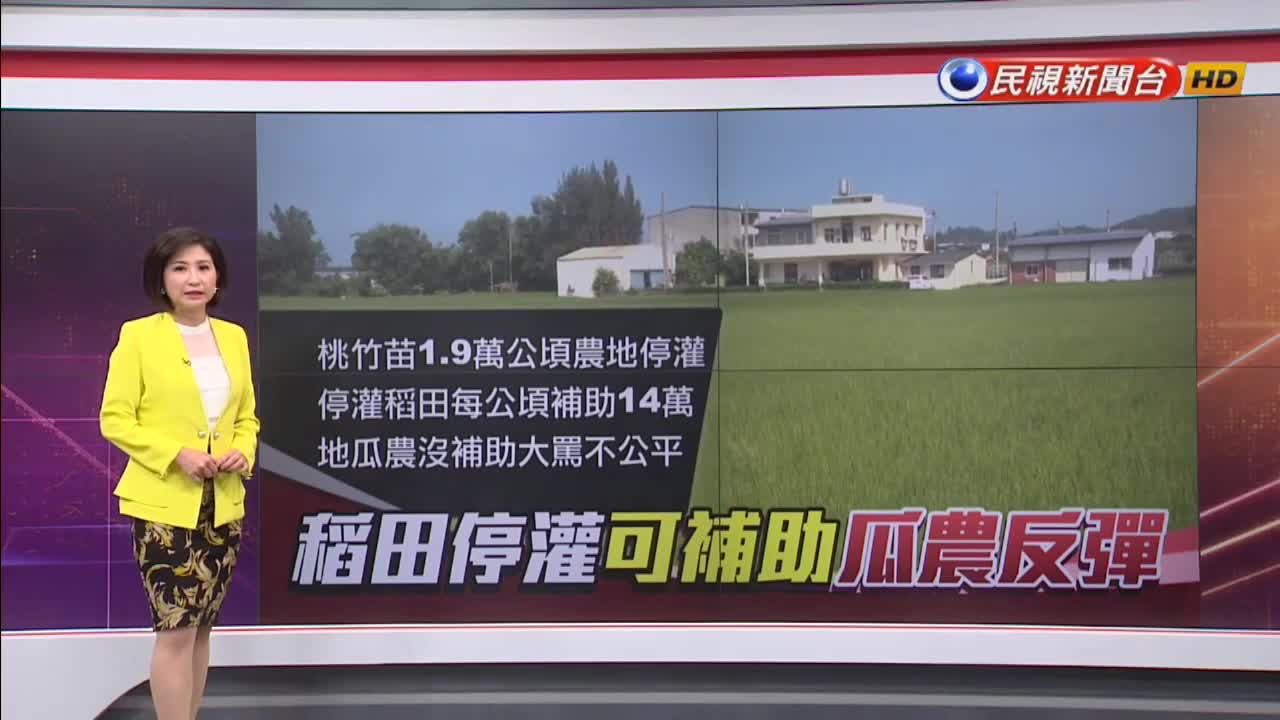 農田停灌補償起跑 雜糧農民怨不公平