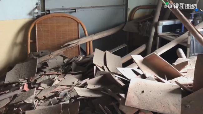台南一夜連三震 鹽水區民宅屋頂震塌